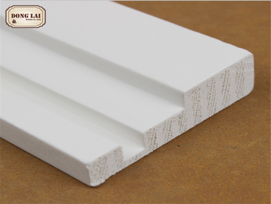 White Gesso Primed Finger Joint Door Frame